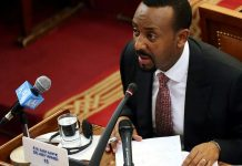 Ethiopia's Prime Minister Abiy Ahmed addresses parliament at the House of Peoples' Representatives in Addis Ababa, Ethiopia, April 19, 2018. ( Reuters