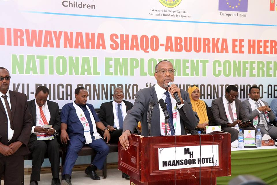 The Somaliland president Muse Bihi Abdi thanked theorganizers of National Employment conference