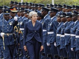 British Prime Minister Theresa May on Thursday became the first UK leader to visit Kenya in 30 years, Photo by AP