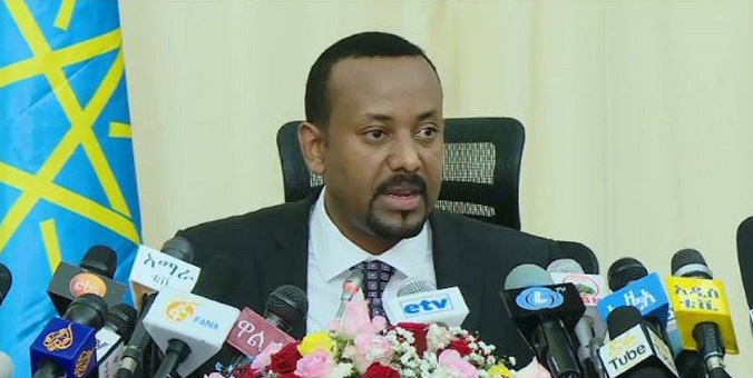 Prime Minister Abiy during the press conference