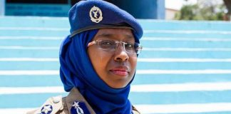 Colonel Zakia Hussen Ahmed Promoted to the rank of a brigadier general in the Somali Police Force