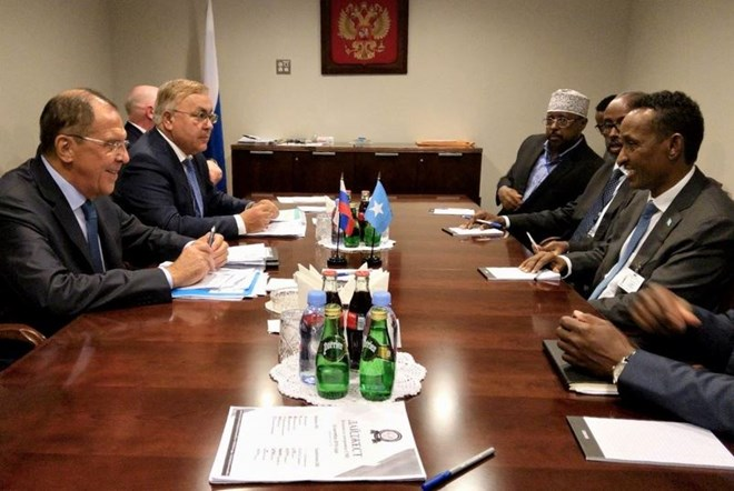 Russian Foreign Minister Sergey Lavrov and Somali Minister of Foreign Affairs Ahmed Isse Awad have discussed the prospects of building up political and trade and economic cooperation