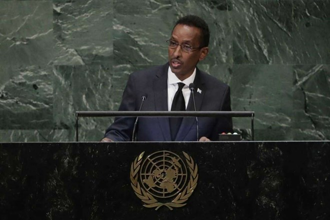 Somalia's foreign minister is telling the U.N. General Assembly that his young government has made significant strides in fighting violent al-Shabab militants, and called on the world body to lift its long-standing arms embargo.