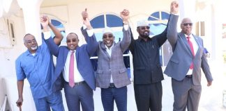 "Somali regional leaders to suspend working relationship with the Federal Government ""until all the previous agreements are implemented"""