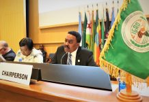,The Minister of Foreign Affairs of the Federal Democratic Republic of Ethiopia, Chairperson of IGAD Council of Ministers, Dr Workneh Gebeyehu, welcomed delegates,