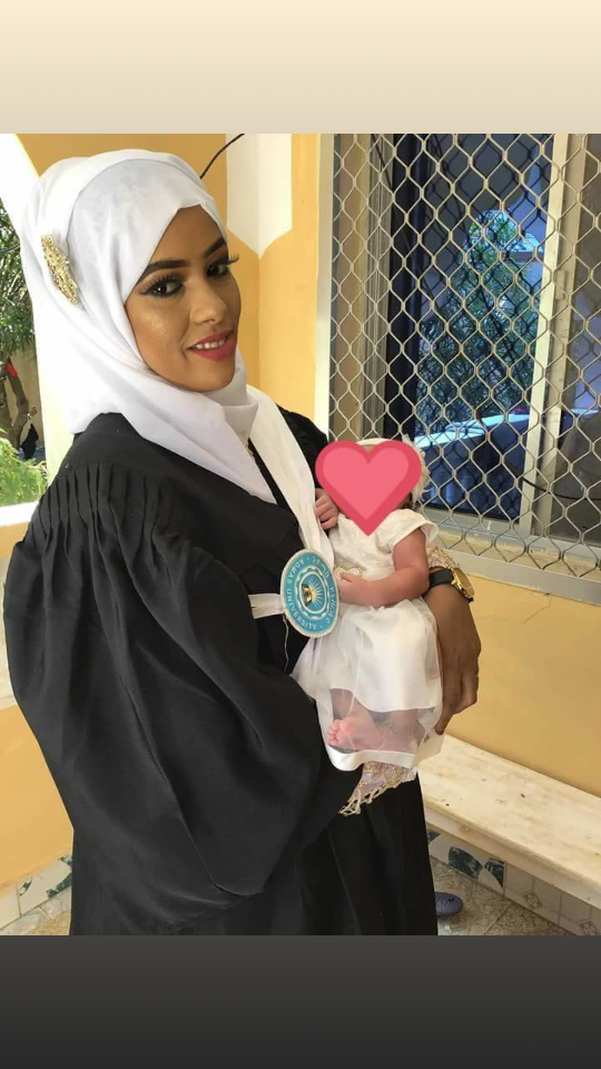 Naima Abdi and her Baby Celebrated Graduation