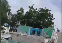 Large blast at district headquarters in Somalia's capital Mogadishu picture via Twitter