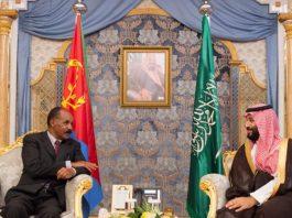 President Isaias and Crown Prince Mohammed bin Salman bin Abdulaziz meeting in Jeddah.