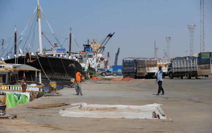 The port of Berbera is set to be transformed by millions of pounds of investment CREDIT: SIMON MAINA/AFP