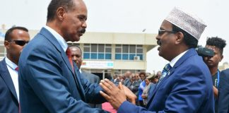 President of the Federal Republic of Somalia, Mr. Mohammed Abdullahi Mohammed has returned home in the afternoon hours of today, 6 September, concluding two-day official visit in Eritrea.