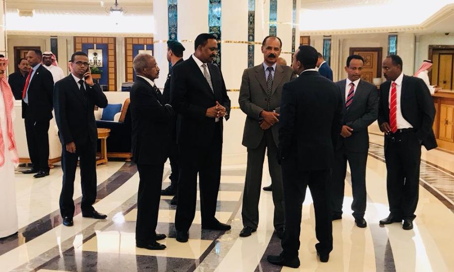 Leaders of Ethiopia, Eritrea sign accord in Saudi Arabia