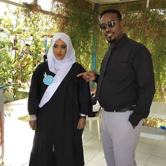 Naima Abdi and her husband Celebrated her Graduation