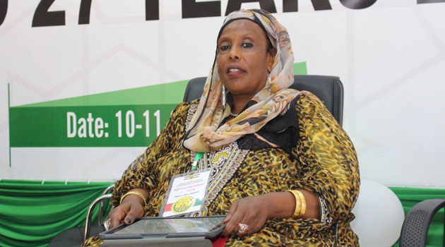 Leading East African female entrepreneur Amina Hersi Mogeh who pushed for the recognition of women in Somaliland development during the international conference in Hergeisa/COURTESY