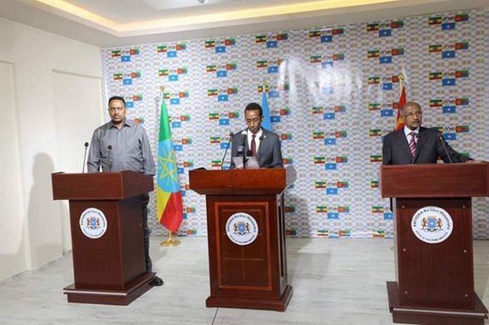 Foreign Affairs Ministers of Ethiopia, Eritrea and Somalia hold discussion
