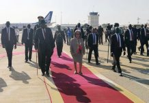 Ethiopian President Sahlework Zewde arrived in Juba to attend the South Sudanese peace celebration.