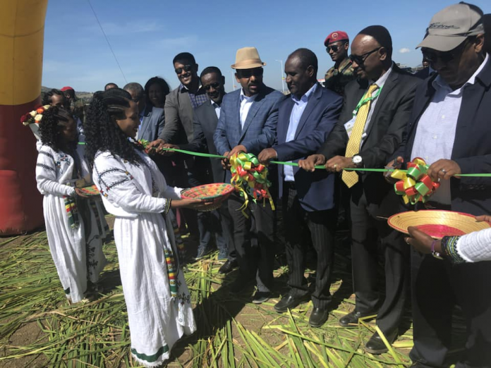 Prime Minister Abiy Ahmed officially inaugurated the 3.8 billion birr Rib Irrigational Dam Project today.photo by ena