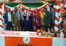 Asa part of visits to strongholds of Waddani party supporters in Britain, Chairman of the party, Abdirahman Mohamed Abdullahi, paid a visit to the Northwest England city of Manchester.