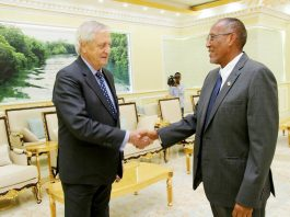 Somaliland President Muse Bihi Abdi Receives United Nations Secretary-General's Special Representative for Somalia Nicholas Haysom at Presidential Palace
