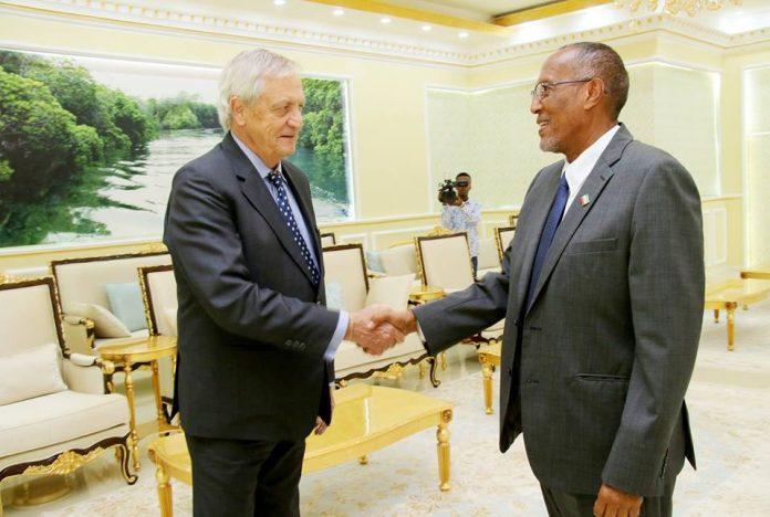 Somaliland President Muse Bihi Abdi Receives United Nations Secretary-General's Special Representative for Somalia Nicholas Haysom at Presidential Palace