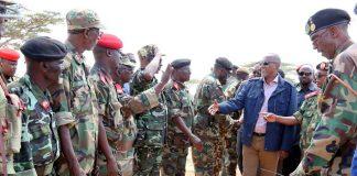 Somaliland President Muse Bihi Abdi visits national Forces at the Frontline(Tukaraq)