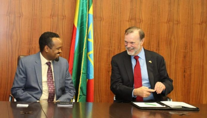 U.S. Assistant Secretary of State for African Affairs Tibor Nagy met with Minister of Finance Ahmed Shide to discuss U.S. support for Ethiopia's long-term economic growth.