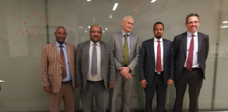 The Minister of Finance, Ahmed Shide, today met with a delegation from the European Union (EU).