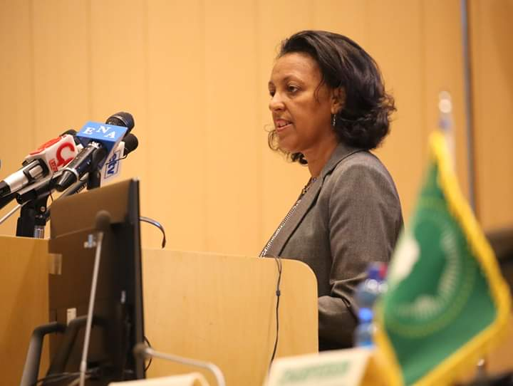 Ethiopian State Minister of Foreign Affairs, Mrs. Hirut Zemene,