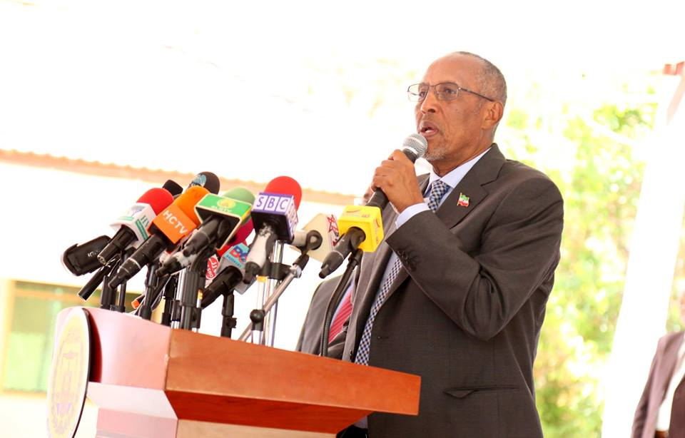 Somaliland president, Muse Bihi in a press conference