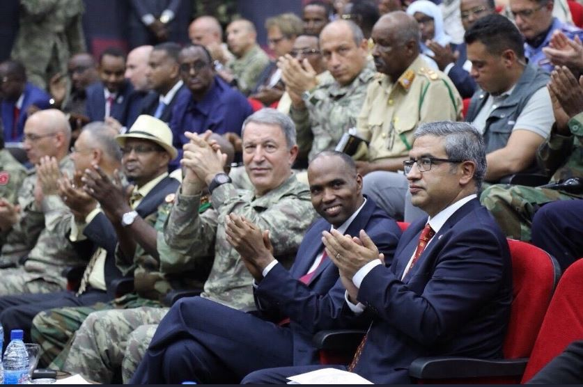Turkish Defense Minister Hulusi Akar arrives in Mogadishu