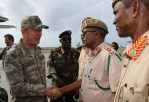 Turkish Defense Minister Hulusi Akar arrives in Mogadishu