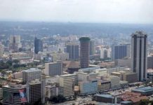 An aerial view of a section of Nairobi TWITTER