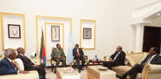 President Mohamed Abdullahi Mohamed Farmajo, President of the Federal Republic of Somalia and President Isaias Afwerki, President of the State of Eritrea, held a two-day consultation meeting in Mogadishu, Somalia on December 13th-14th 2018.