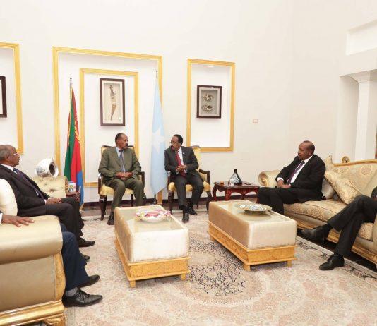 President Mohamed Abdullahi Mohamed Farmajo, President of the Federal Republic of Somalia and President Isaias Afwerki, President of the State of Eritrea, held a two-day consultation meeting in Mogadishu, Somalia on December 13th-14th 2018.