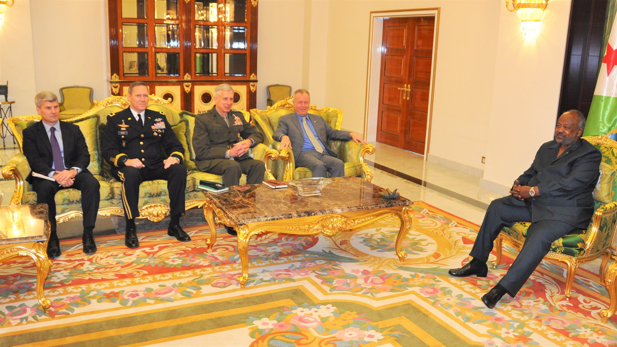 During a four-day trip to East Africa, Gen. Thomas D. Waldhauser, commander of United States Africa Command (AFRICOM), met with senior Djiboutian officials, including President Ismail Omar Guelleh