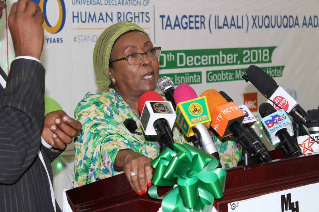 "Somaliland respect international human rights but we need to obtain our Human Rights in the International Arena ,""Edna aden Ismail"