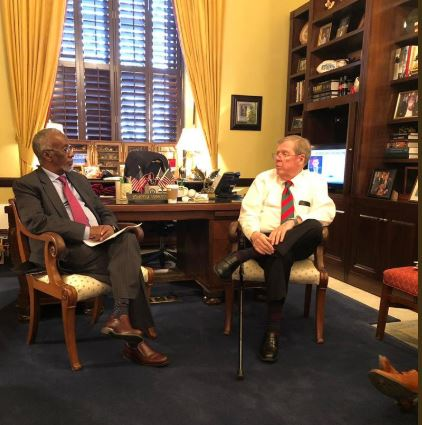 Somaliland Minister of Foreign Affairs and International Cooperation Yasin Hagi Mohamud Hir met with Senator Johnny Isakson from Georgia in Washington DC