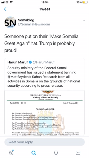 Sahan Research paper co-author tweeting about the ban