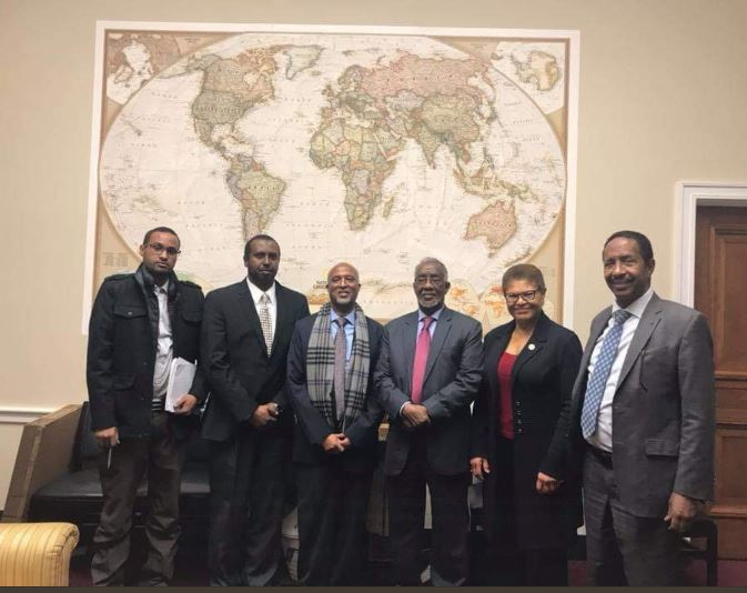 Somaliland Foreign Minister Yasin Hagi Mahmoud Hir Accompanied by President's EconomicAdviser Dr. Osman Sheikh Ahmed met with Congresswomen Karen Bass in WashingtonDC