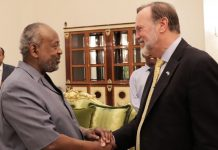 US. Assistant Secretary of State for the Bureau of African Affairs Tibor P. Nagy met with the president of Djibouti Ismail Omar Guelleh