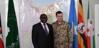 The EU military top official, who is also the Head of Mission of the EU Training Mission in Somalia, Mali and the Republic of Central Africa, met with the leadership of AMISOM on Wednesday in Mogadishu