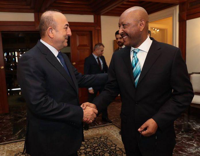 Ethiopian Ambassador to Turkey H.E. Ambassador Girma Temesgen met with H.E. Mr. Mevlüt Çavuşoğlu, Minister of Foreign Affairs of the Republic of Turkey