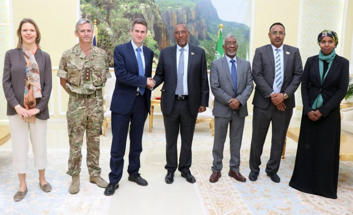 UK Secretary of State for Defence Arrives in Somaliland