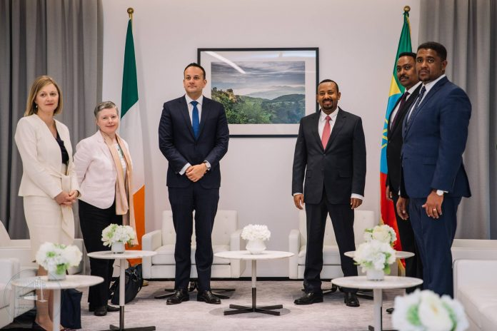 Prime Minister Dr. Abiy Ahmed received the Prime Minister of the Republic of Ireland, Leo Varadkar, at the Office of the Prime Minister on Wednesday (January 09).