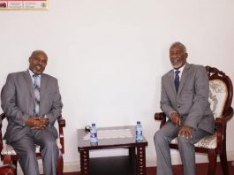Minister of Foreign Affairs and International Cooperation Hon Yasin Hagi mohamud has recieved in his office Amb Shemsudin Ahmed, the newly appointed Consul General of the Consulate General of the Federal Democratic Republic of Ethiopia