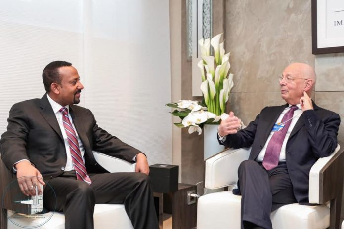 meeting between Prime Minister Dr. Abiy Ahmed and Founder and Executive Chairman of the World Economic Forum (WEF), Professor Schwab today (January 23)