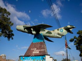 Fighter Jet Plane At The Entrance Of War Memorial Museum In Hargeisa Somaliland