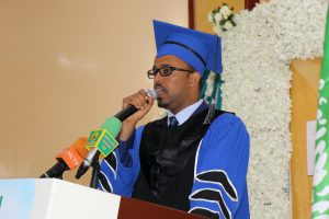 The President of Muslim College Dr.Abdirahman mohamed Osman Chairman