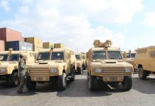 Qatar donated 68 armored vehicles to Somalia on Thursday, Qatar's Defense Ministry said.