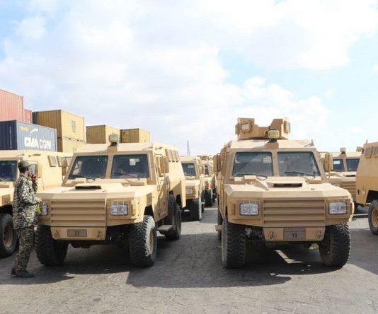 Qatar donated 68 armored vehicles to Somalia on Thursday, Qatar's Defense Ministry said.