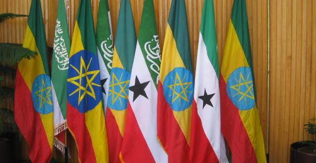 Somaliland and Ethiopia Flags
